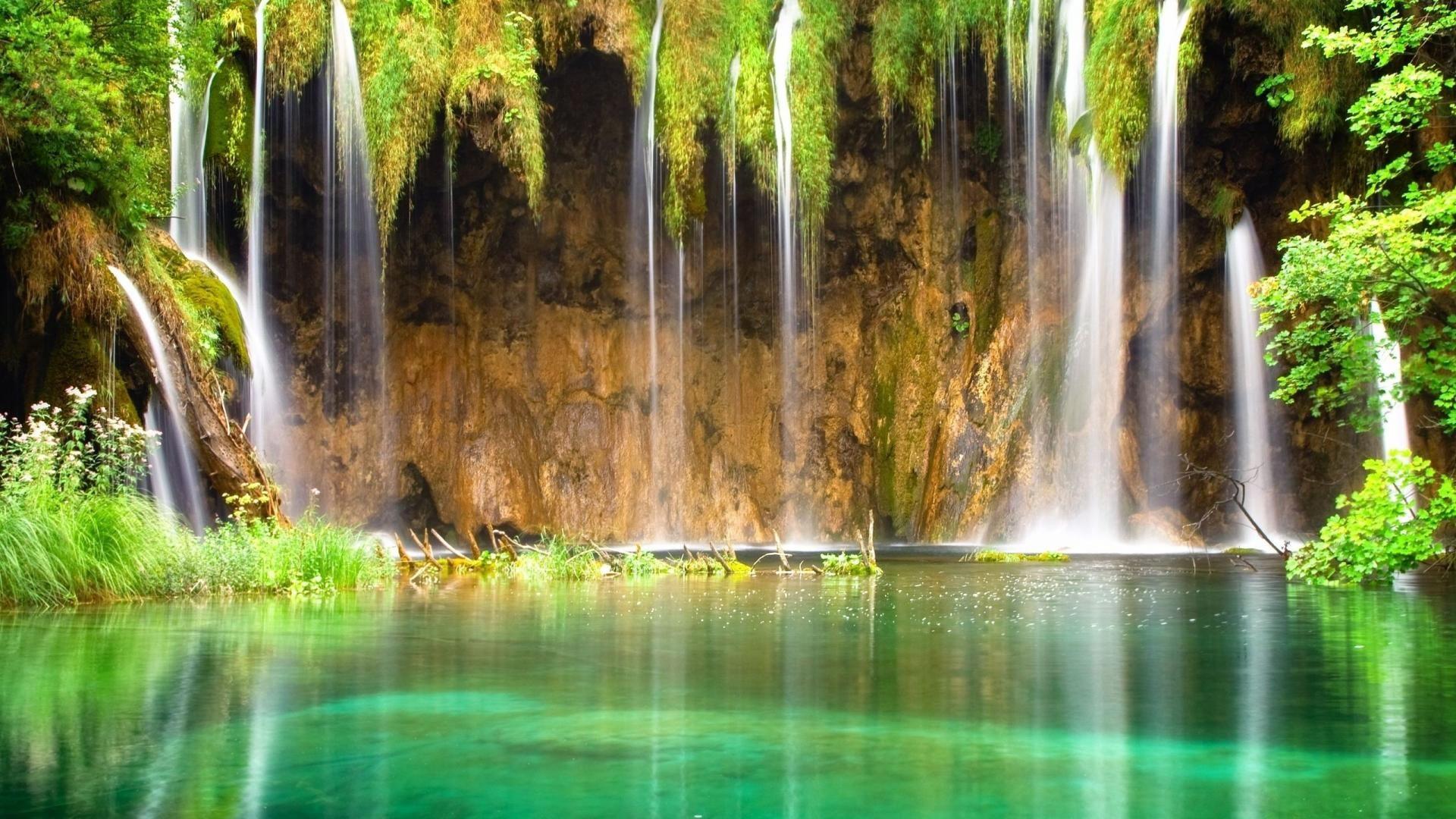 водопад природа