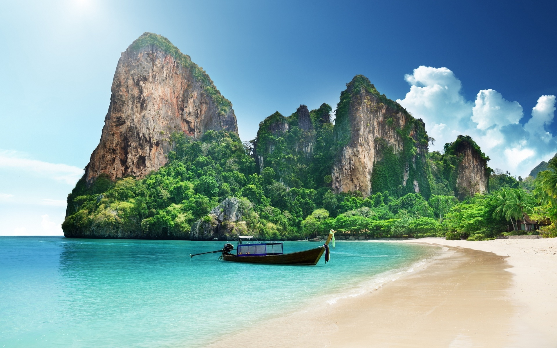 лодка океан скала Таиланд