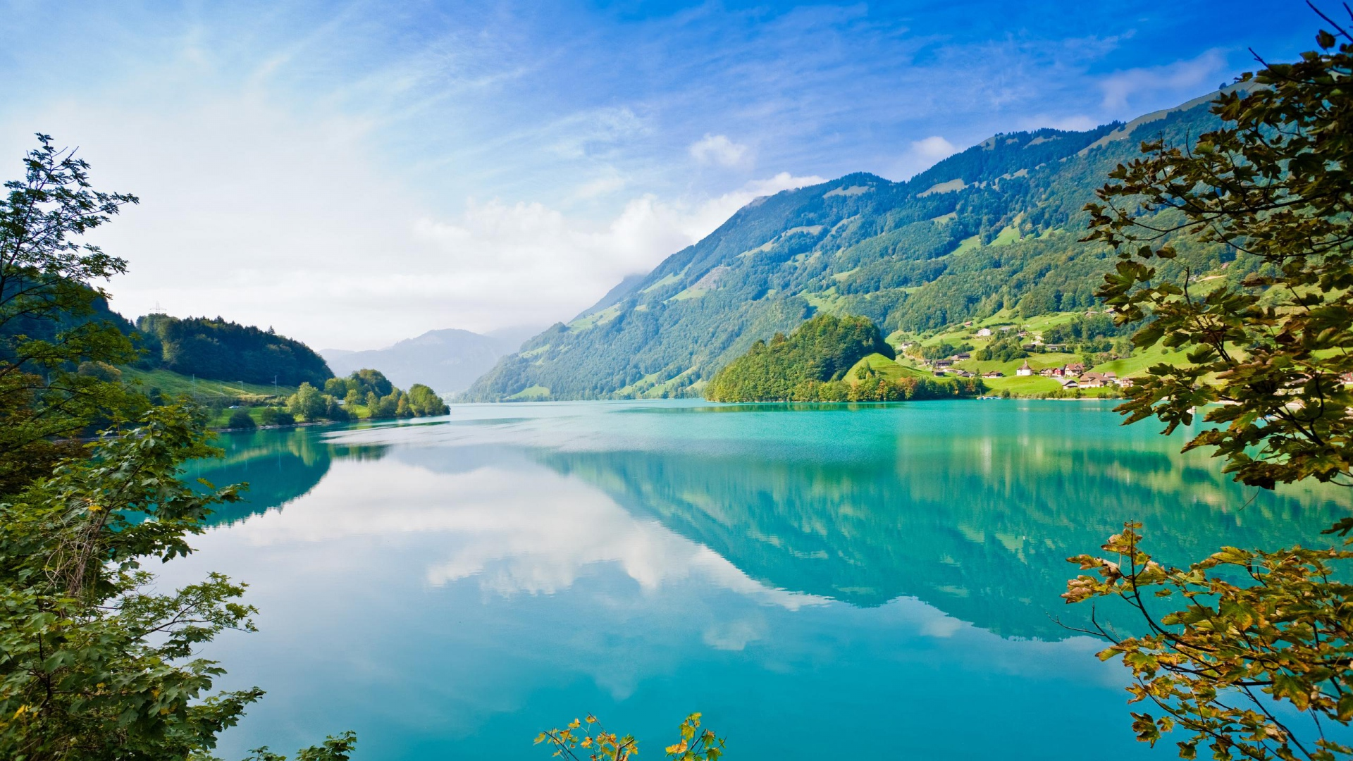 горы озеро природа