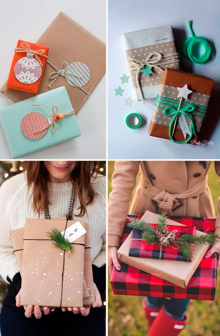 упаковываем новогодний подарок