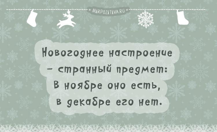 Новогоднее настроение - странный предмет: В ноябре оно есть, в декабре его нет