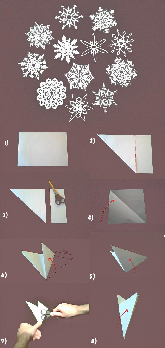схема снежинок 1