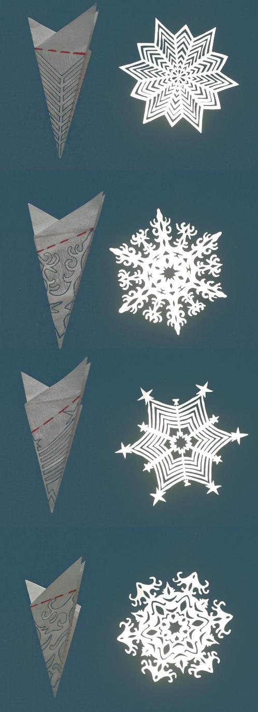 варианты снежинок