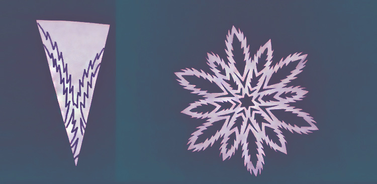 снежинка бумажная