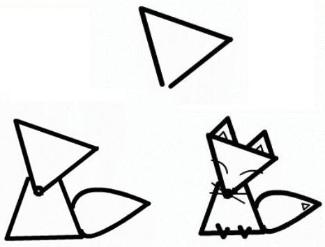 лиса из треугольника