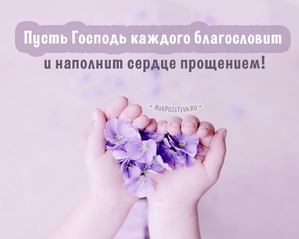 Пусть Господь каждого благословит и наполнит сердце прощением