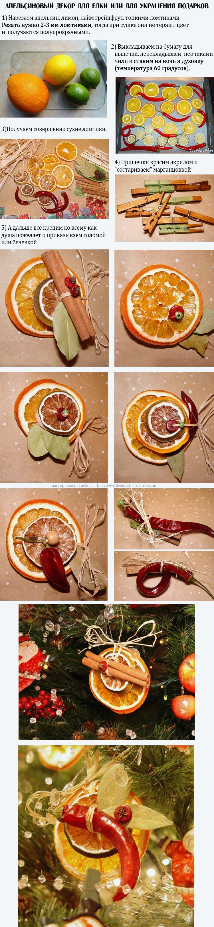 апельсиновый декор на новый год