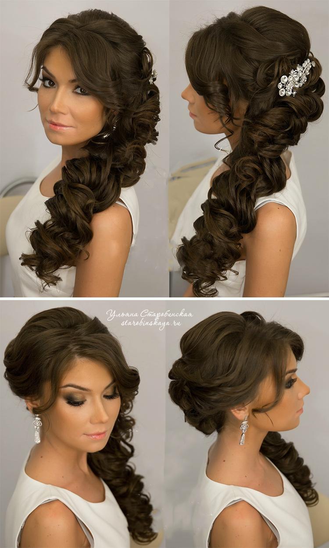 красиво уложенные длинные волосы