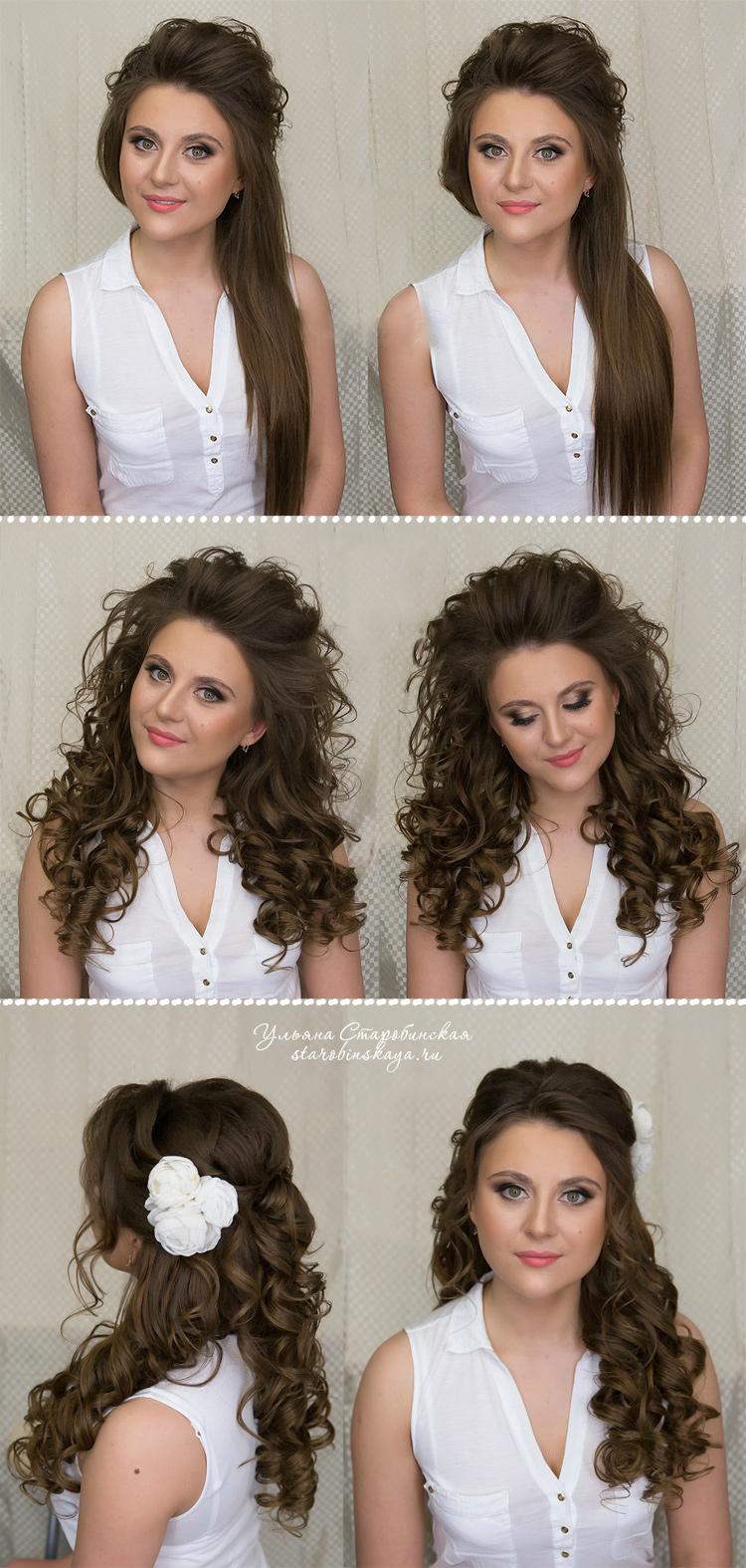 локоны на длинных волосах