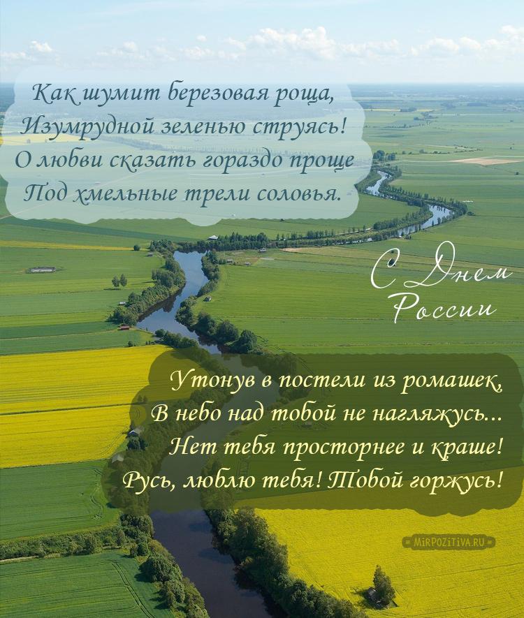 Нет тебя просторнее и краше! Русь, люблю тебя! Тобой горжусь!