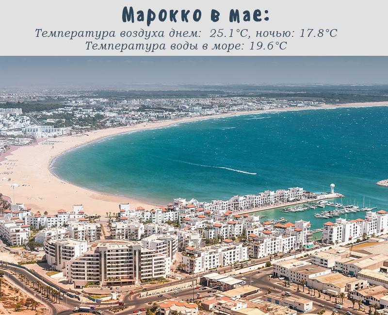 Марокко, температура в мае