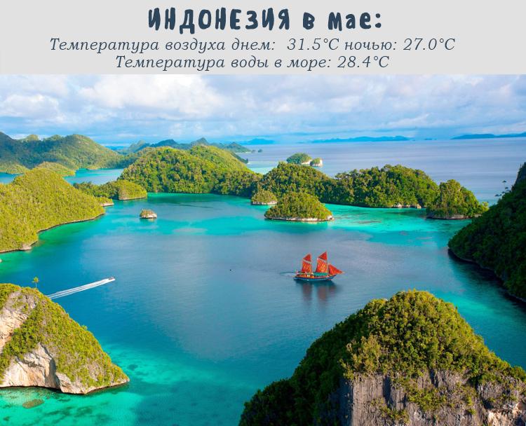 Индонезия, погода в мае