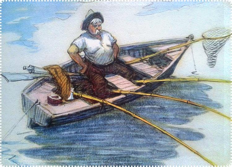 крестьянин на рыбалке