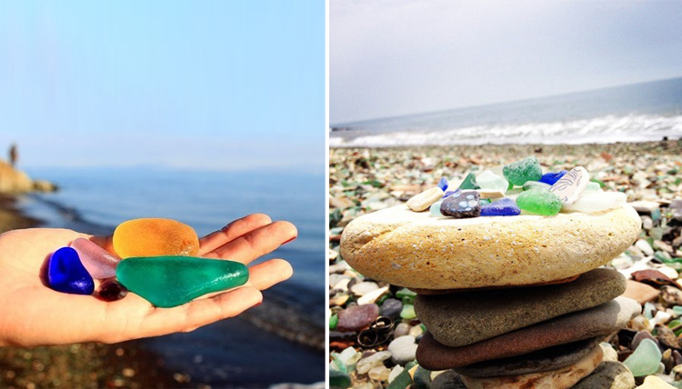 «Драгоценные» камни на месте городской свалки (17 фото)