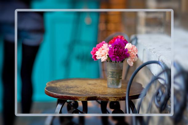 столик цветы