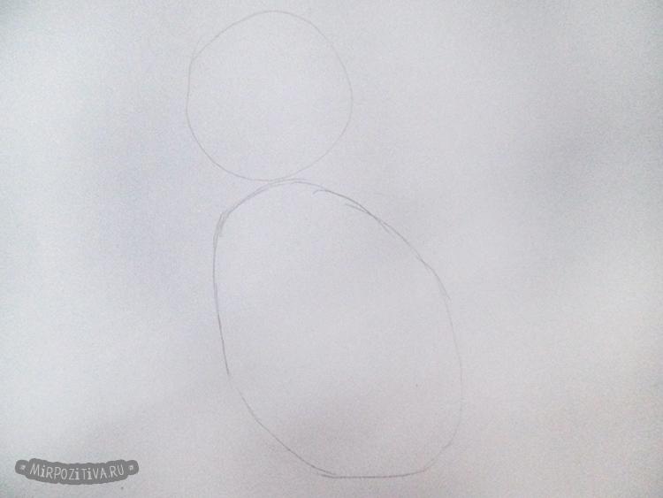 рисуем два овала