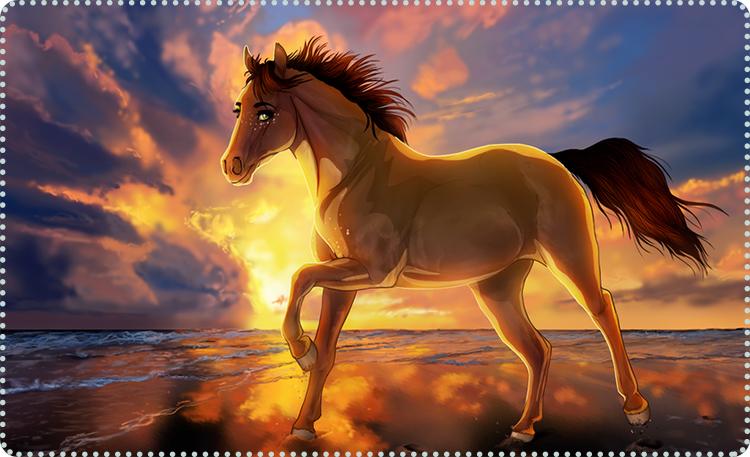 лошадь для срисовки