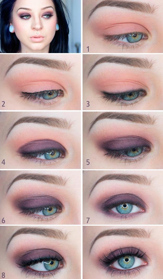 смоки-айс для голубых глаз