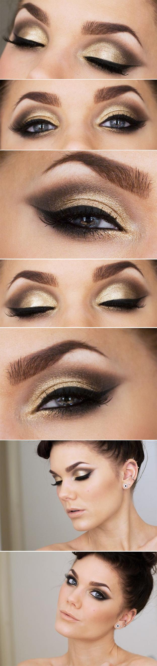 макияж арабский для голубых глаз