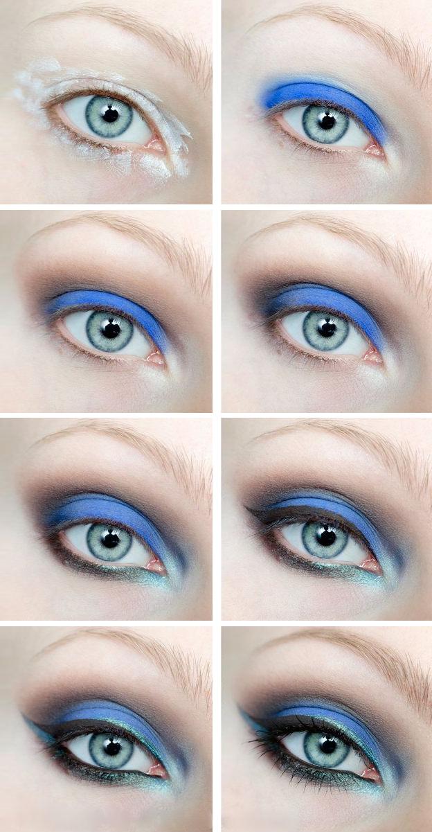 вечерний макияж для голубоглазок