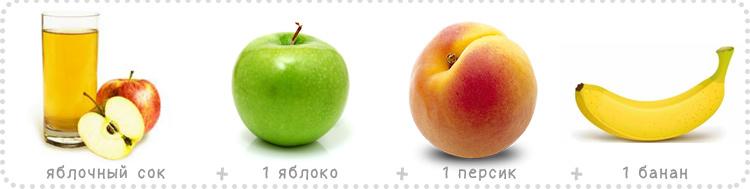 яблочный сок яблоко персик банан