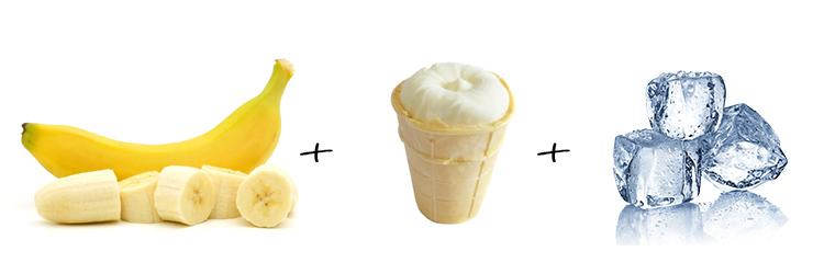 банан мороженое лед