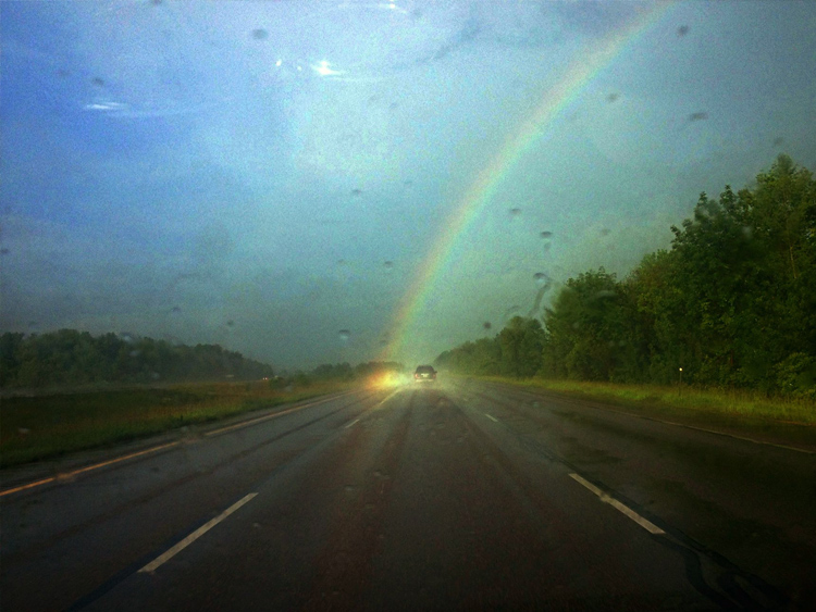 Впервые в жизни я увидел конец радуги