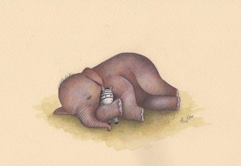 единичные смешные рисунки слона берет тяжелый гантель
