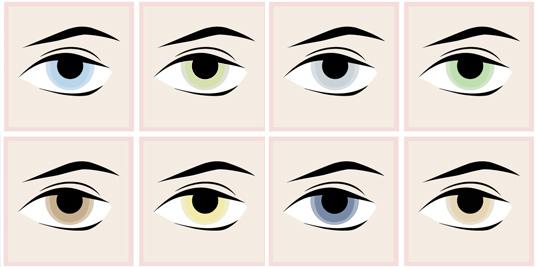 цвет глаз цветотип весна