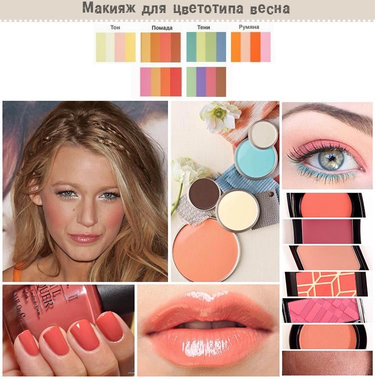 макияж для цветотипа весна