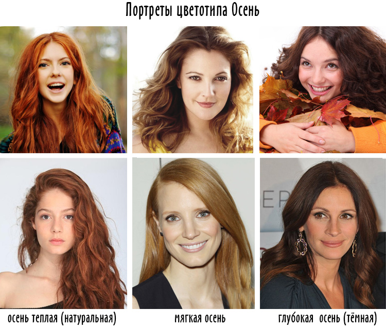 портреты цветотипа Осень
