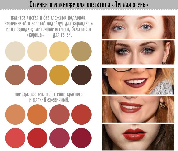 макияж для цветотипа осень