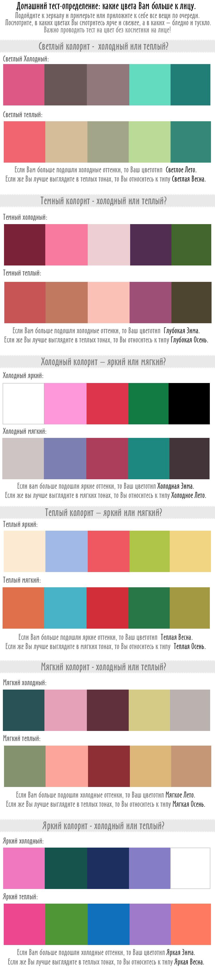 тест на определение цвета