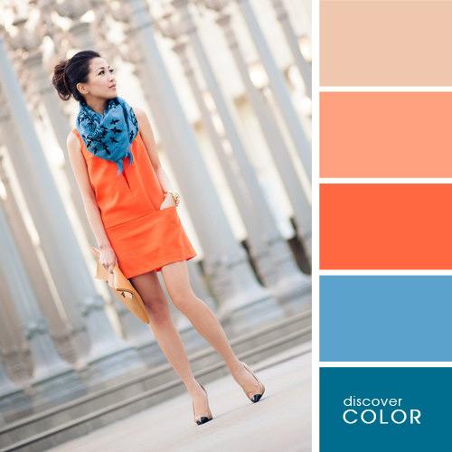 Сочетания цветов в одежде сочетание с оранжевым