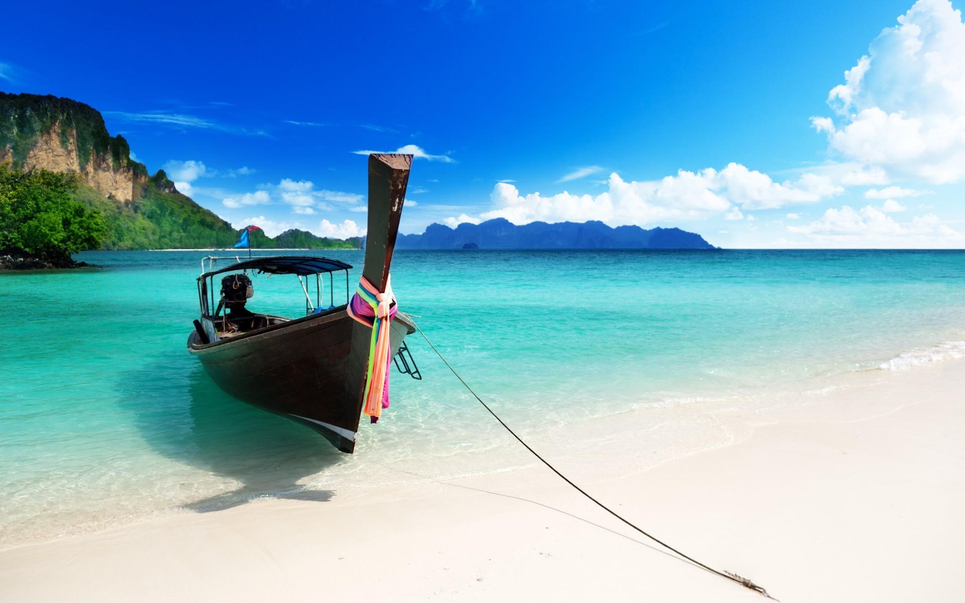 синее море и пляж