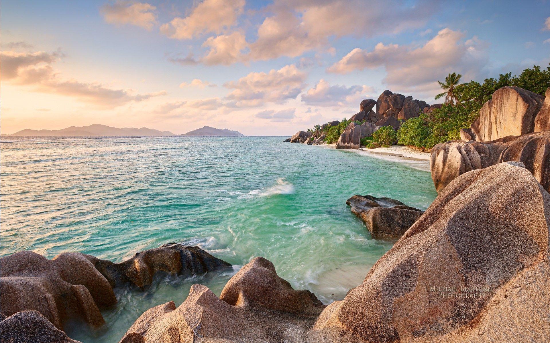 скалы берег океан