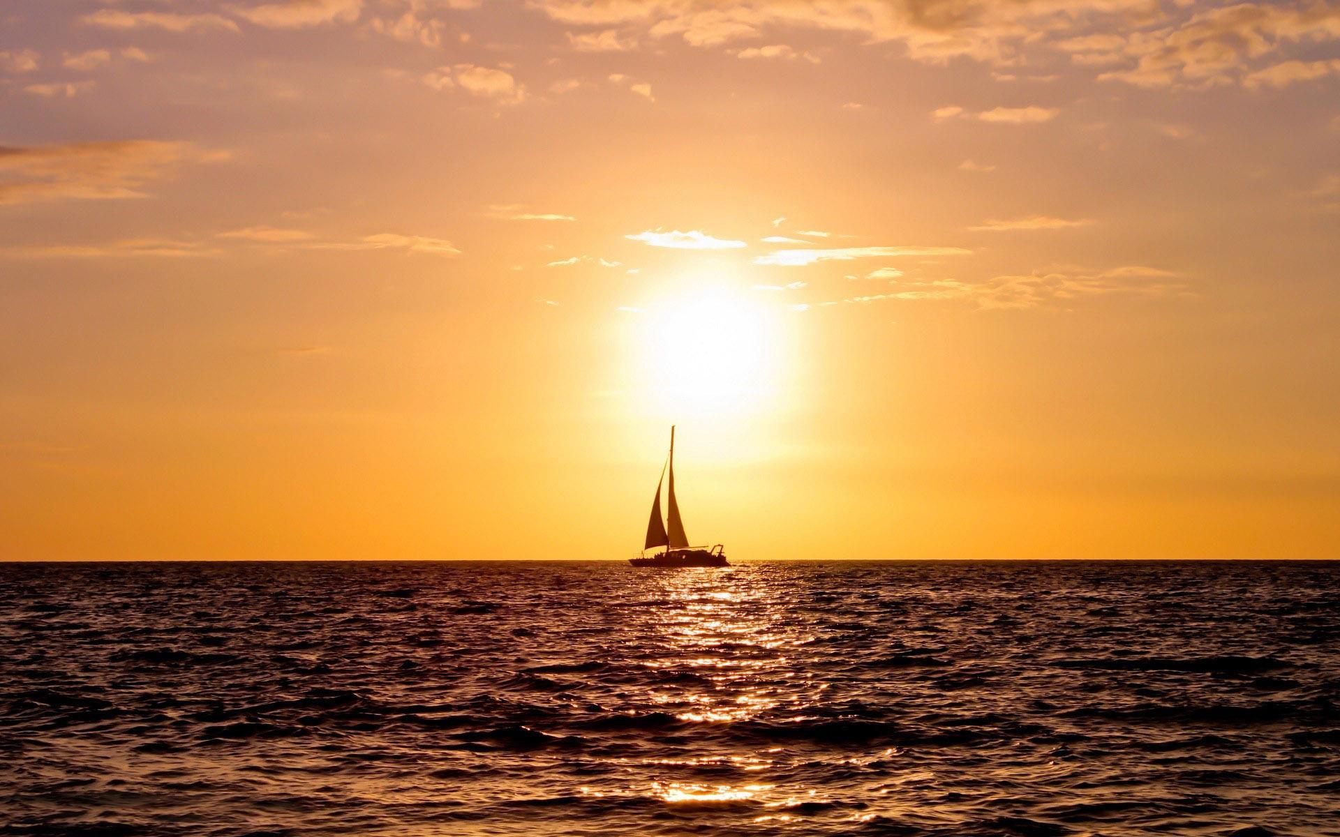 солнечный свет море