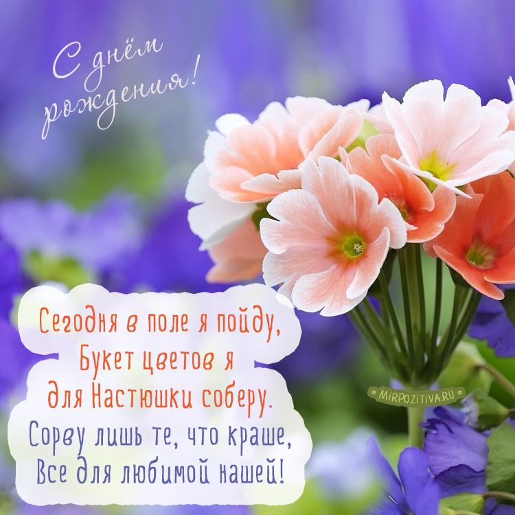 Цветы - Сегодня в поле я пойду, Букет цветов я для Настюшки соберу
