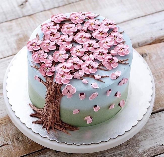 Невероятно красивые весенние торты-цветы (35 фото)
