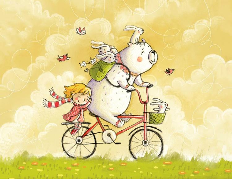 на велосипеде вперед к своему счастью