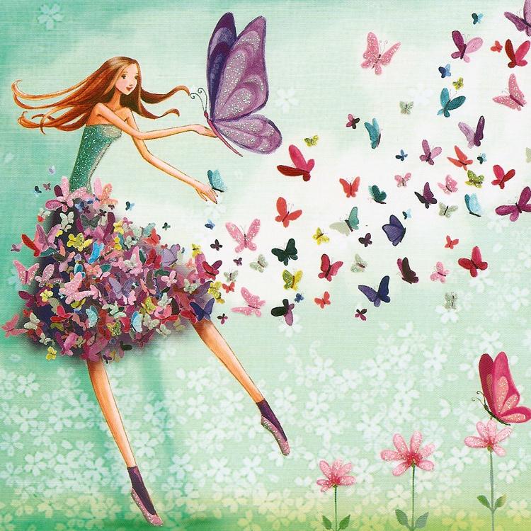 иллюстрация бабочки счастье