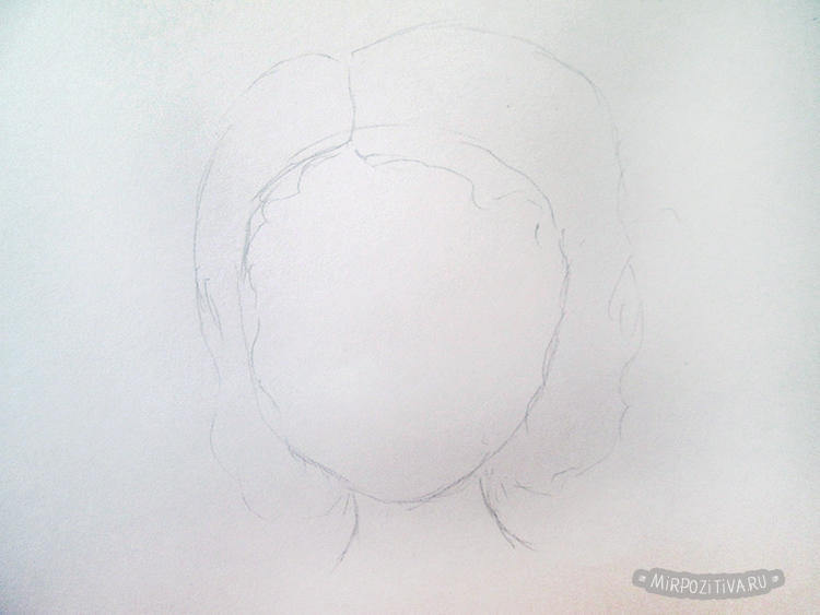 рисуем прическу волосы