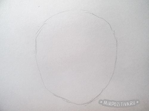 рисуем лицо овал