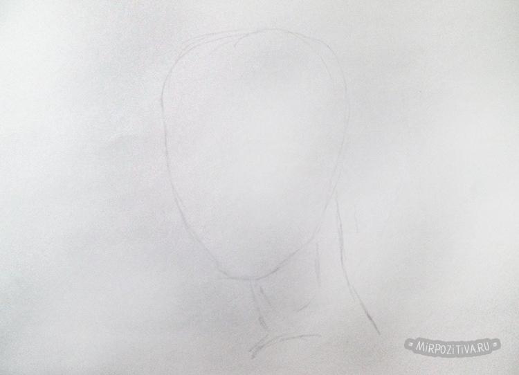 рисуем овал лица