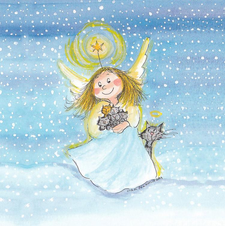 рисунок ангела девочки