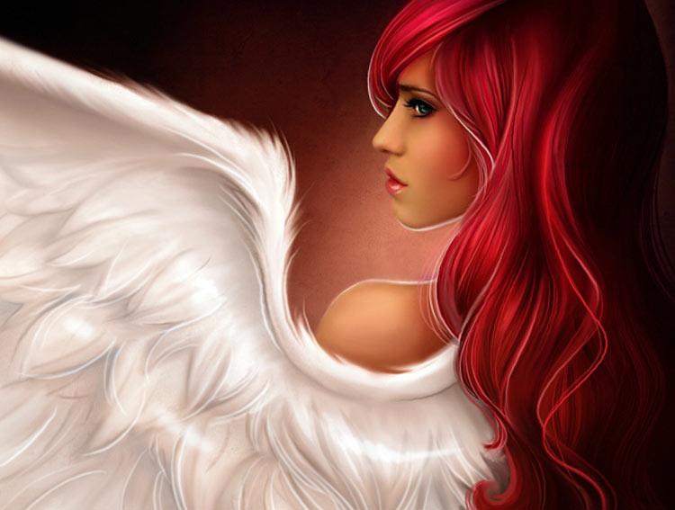 девушка с крылом ангела