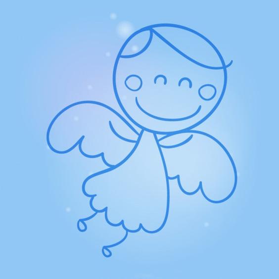 нарисованный ангел