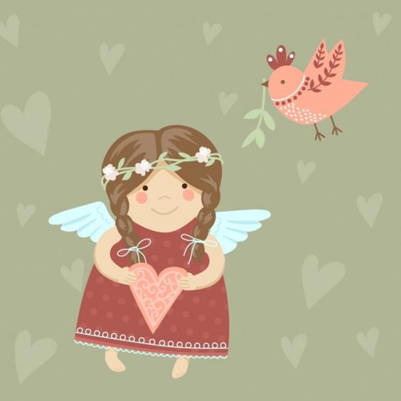 рисунок ангелочка