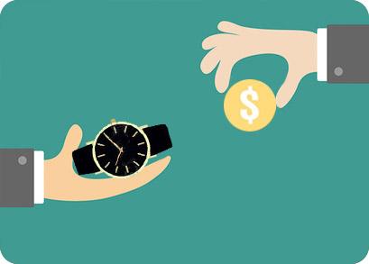 выкуп монеткой за часы