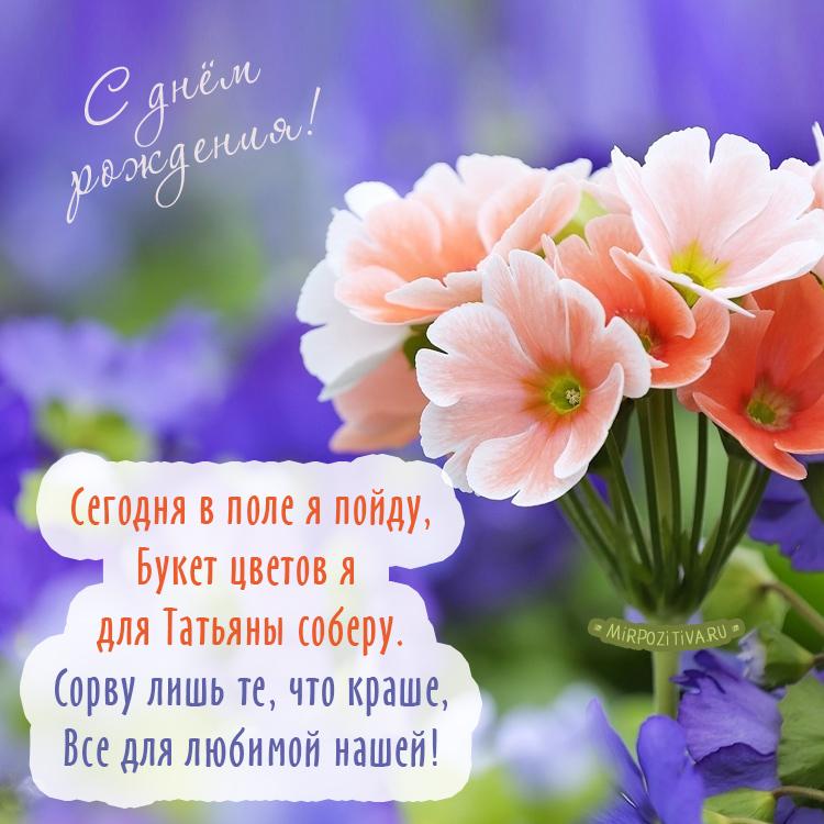 цветы - Сегодня в поле я пойду, Букет цветов я для Татьяны соберу